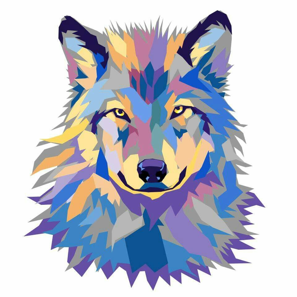 960x960 Wild Wolf. Vector Artwork By Joshua Pomeroy. Vector And Pop Art