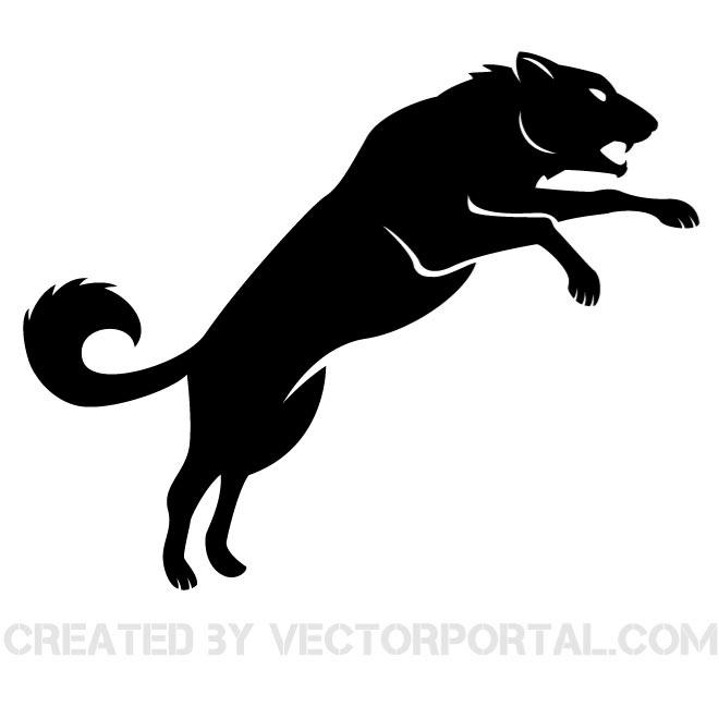 660x660 Wolf Silhouettes Free Vector 123freevectors
