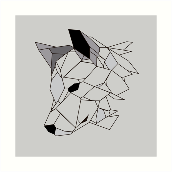 550x550 Wolf Vectors Art Prints By Oxleinadxo Redbubble