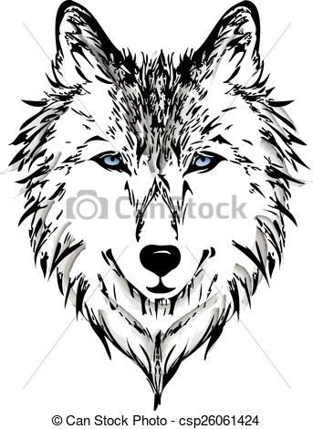 343x470 Wolf Head Vector Graphic.