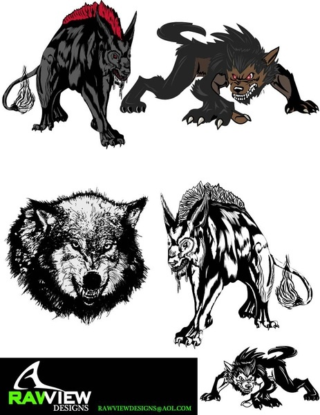 463x600 Free Hellhound Wolf Vector Free Vector In Adobe Illustrator Ai