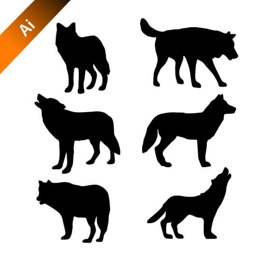 540x540 Wolf Vector Silhouettes Free Design Template Logo Design Service