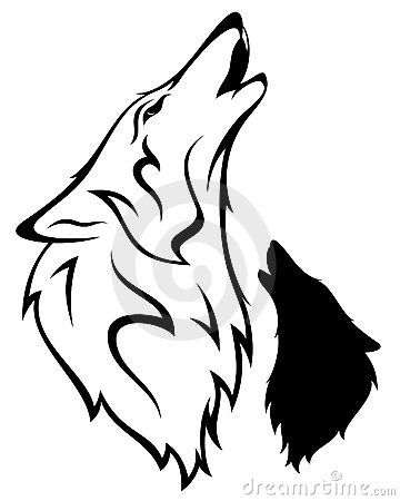 360x450 Outline Symbol Of Wolf Wolf Vector Royalty Free Stock Images
