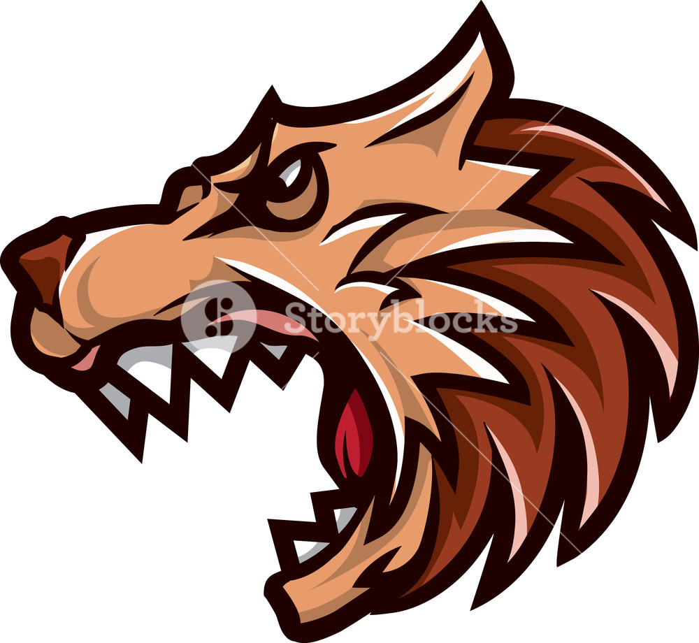 1000x920 Vector Wolf Mascot Royalty Free Stock Image