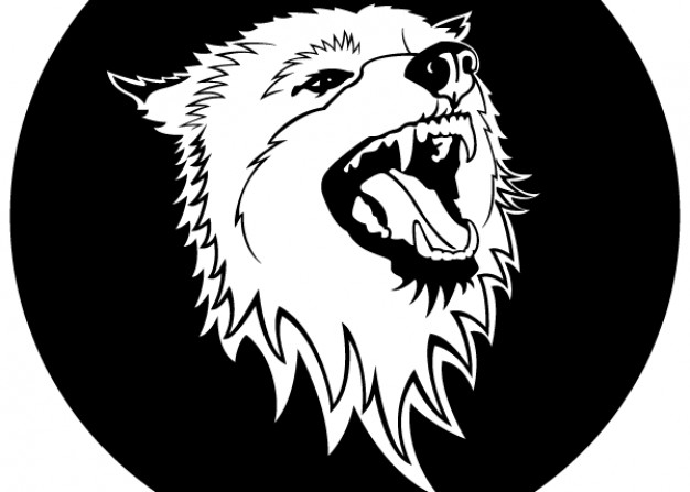 626x447 Free Wolf Head With Dark Circle Back Vector Download Free Animal