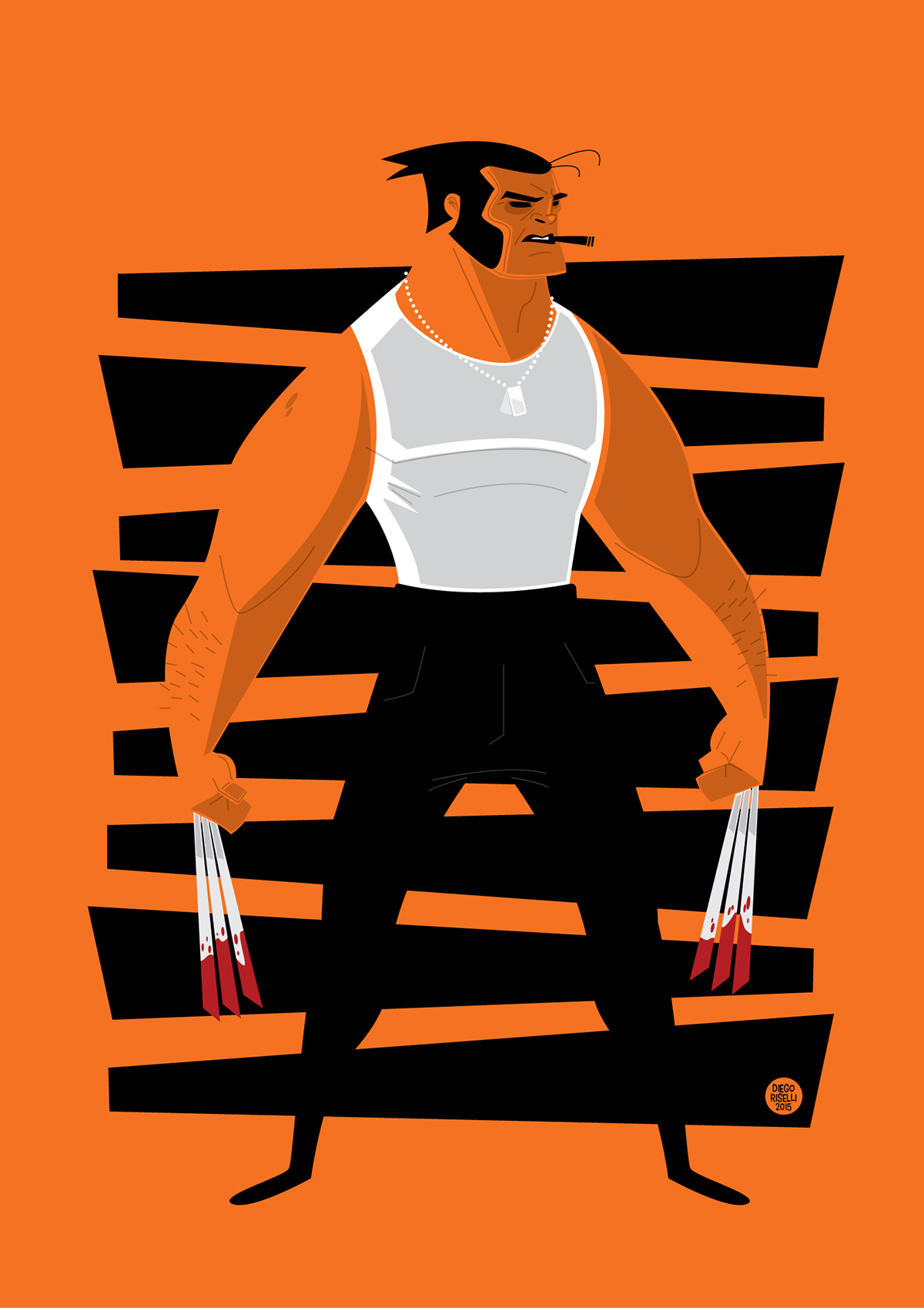 1200x1698 Wolverine Vector On Behance