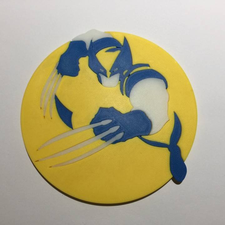 720x720 3d Printable Vector Wolverine Coaster By Trevor Day