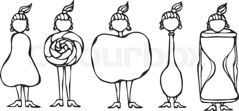 800x372 Pear, Lollipop, Apple, Spoon, Hourglass Women Body Type Figure