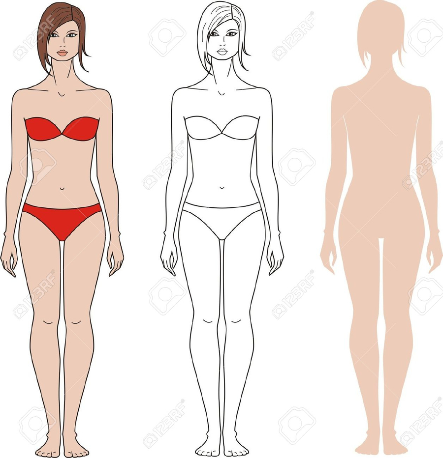 900x932 Download Body Woman Vector Clipart Female Body Shape