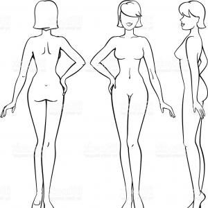 300x300 Man And Woman Human Body Silhouettes With Pointers Vector Isolated