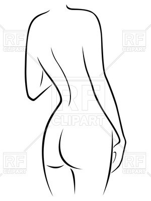 300x400 Woman Body Front Back And Side View In Outline Vector Id180162638