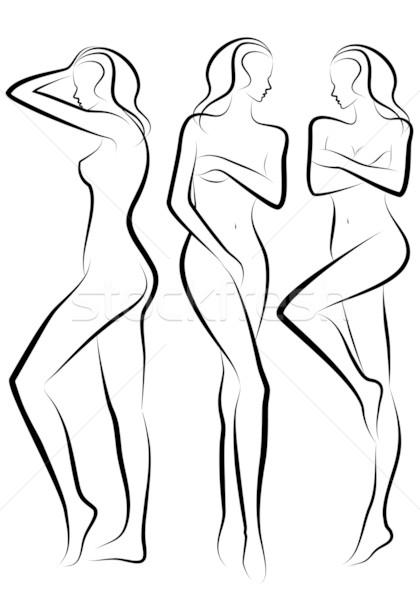 420x600 Woman Body, Vector Vector Illustration Beaubelle ( 420210