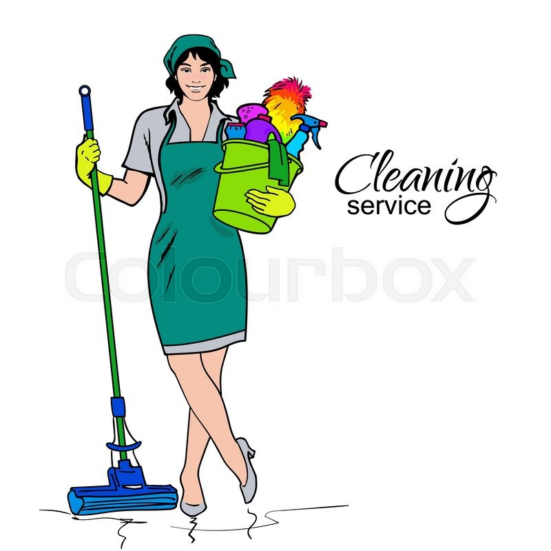 800x800 Cleaning Services. The Cleaner With A Mop. Cleaning Homes And