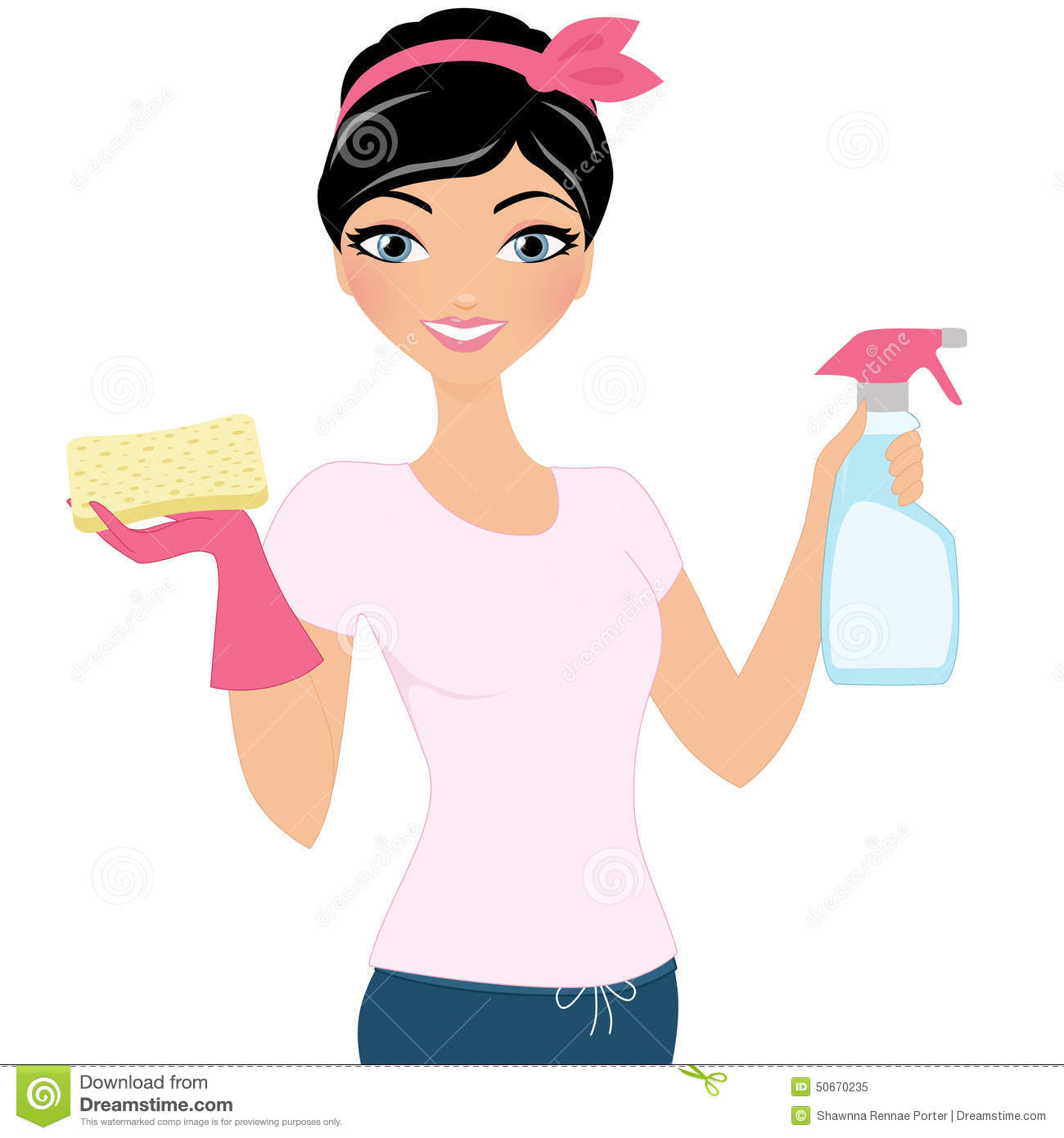 1300x1390 House Cleaning Vector