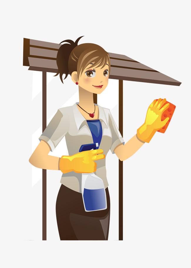650x913 Outdoor Woman Cleaning Free Downloads, Woman Vector, Outdoor