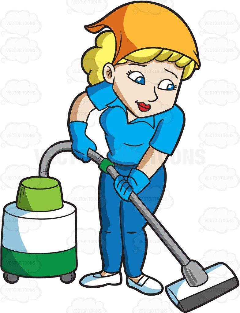 784x1024 A Woman Cleaning The Floor With A Vacuum Vector Illustrations