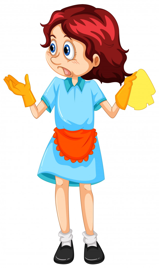 626x1053 A Woman Cleaning Maid Vector Free Download