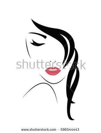 357x470 Young Woman Face. Vector Images In 2018 Woman Face