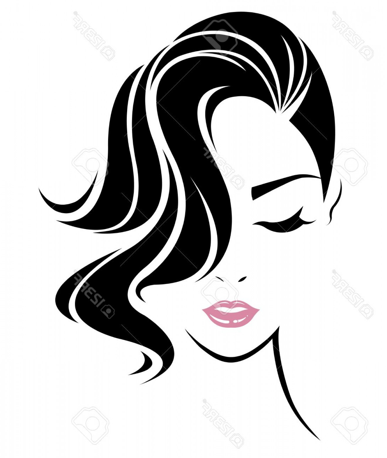 1318x1560 Photostock Vector Illustration Of Women Short Hair Style Icon Logo