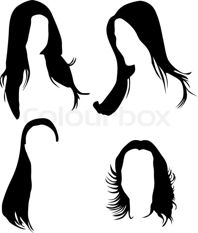 679x800 Women Hair Silhouette Vector Stock Vector Colourbox