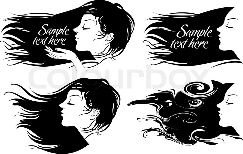 800x508 Beautiful Girl With Long Hair Hair Fluttering Wind Vector
