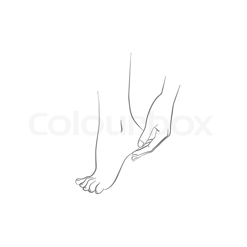 800x800 Hand And Foot, Body Care, Woman Hand Applying Cream On Feet