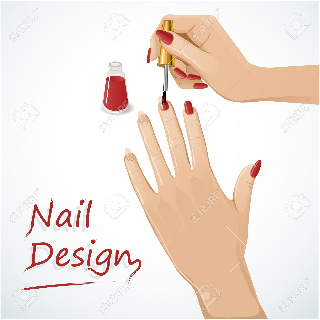 1300x1300 Manicure Clipart Lady Hand ~ Frames ~ Illustrations ~ Hd Images