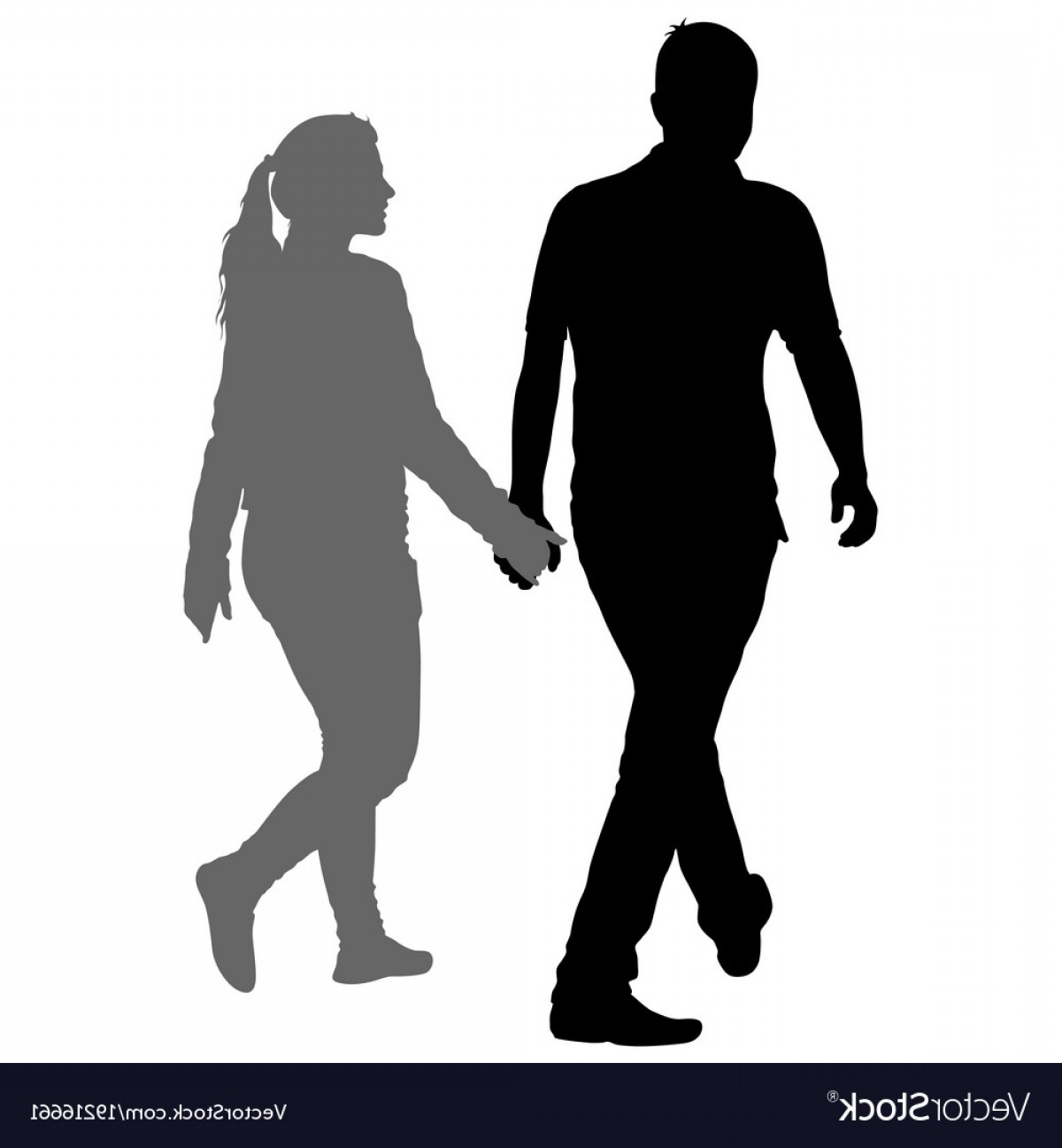 1200x1296 Silhouette Man And Woman Walking Hand In Hand Vector Arenawp