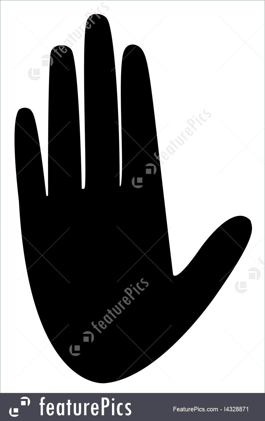 878x1392 Woman Hand Silhouette Vector Stock Illustration I4328871