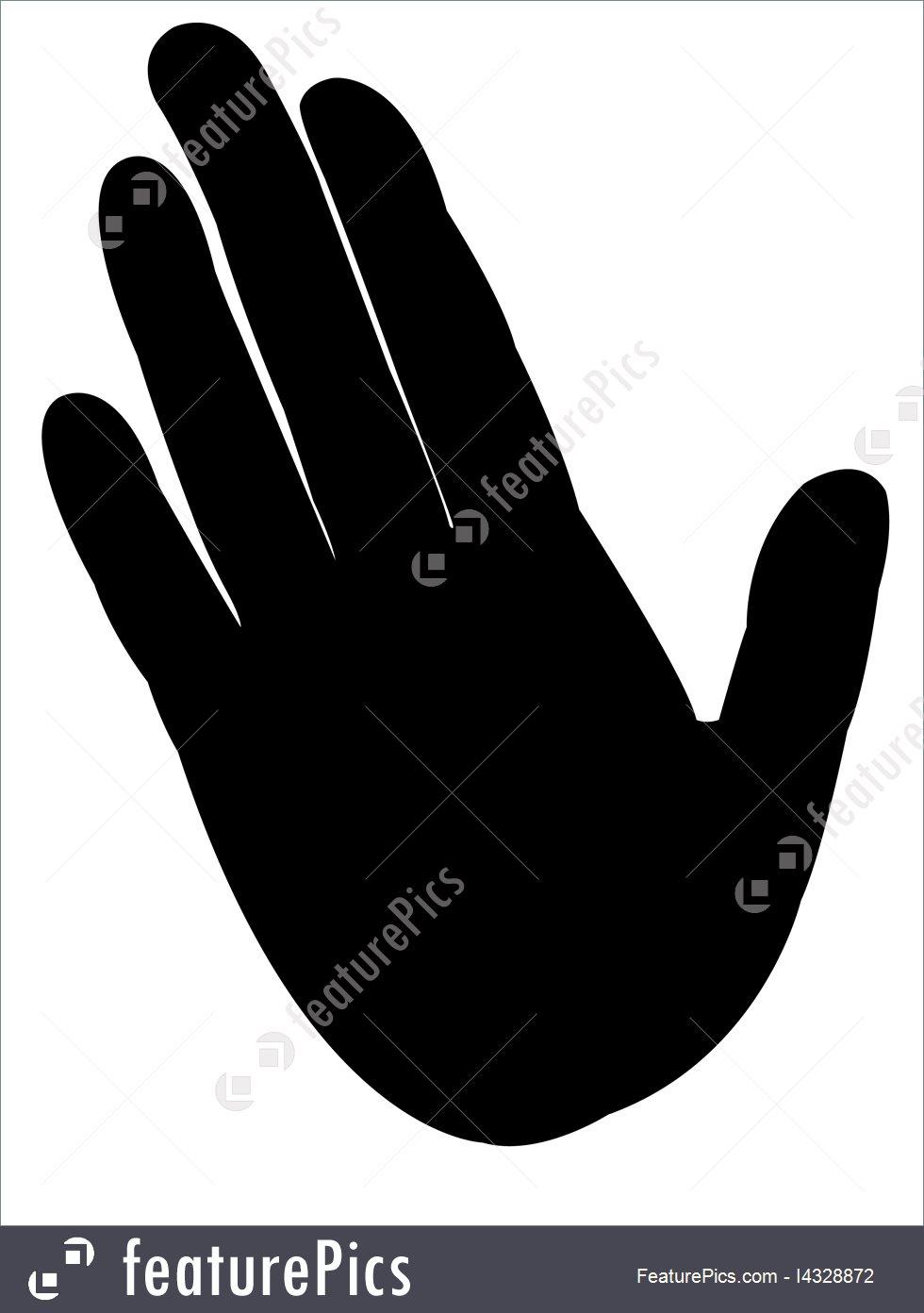 980x1392 Woman Hand Silhouette Vector Stock Illustration I4328872