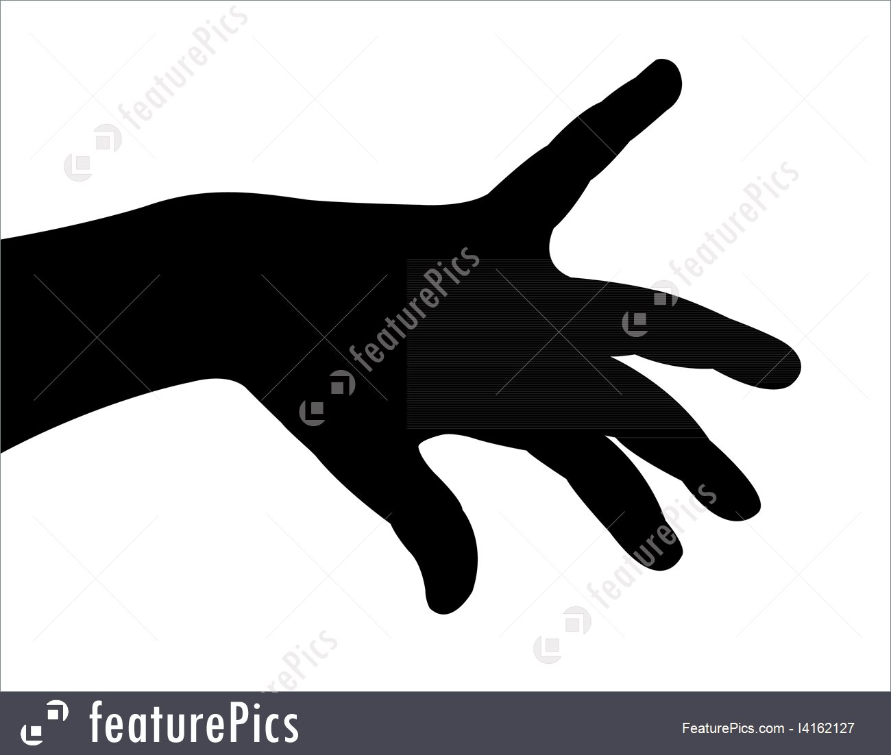 1300x1102 Woman Hand Silhouette Vector
