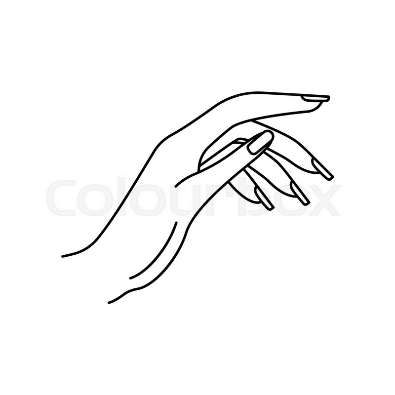 800x800 Woman Hand Icon. Outline Woman Hand Vector Icon For Web Design