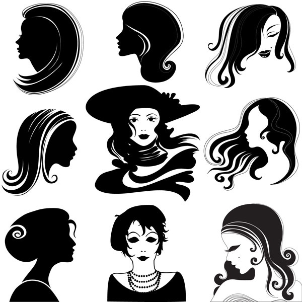 600x600 Female Head Vector Free Vector In Encapsulated Postscript Eps