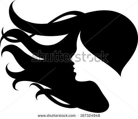 450x388 Silhouette Clipart Woman Face
