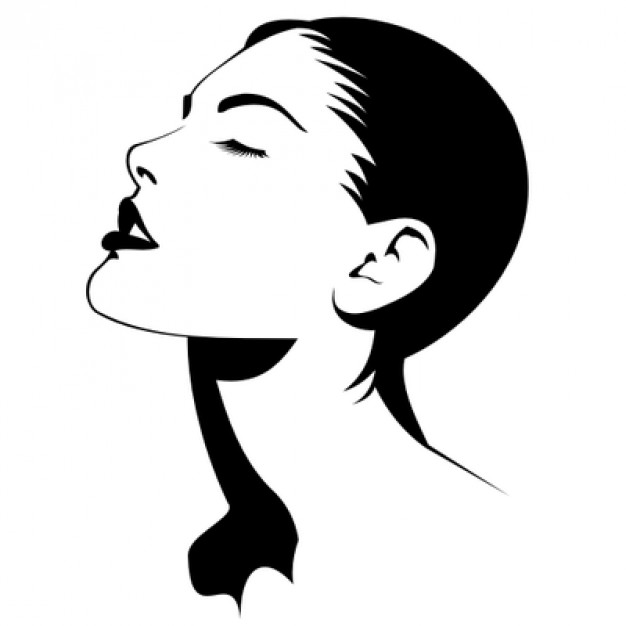 626x626 Beautiful Woman Curving Her Head Vector Free Download