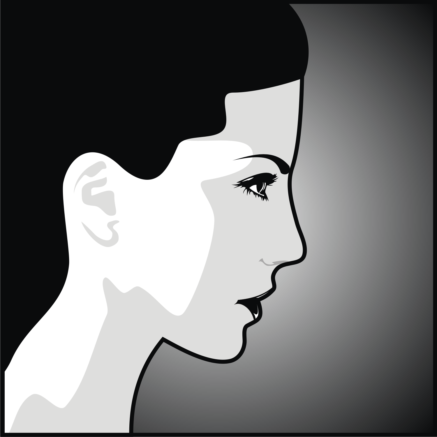 1500x1500 Vector For Free Use Head Of Woman