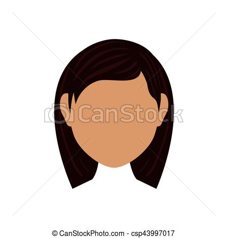 450x470 Woman Faceless Head Icon Vector Illustration Graphic Design Vector
