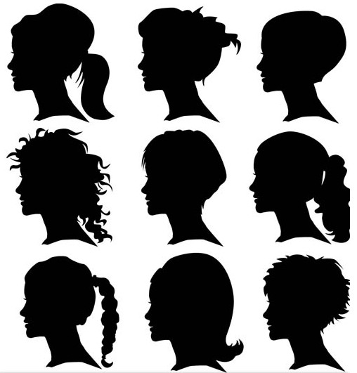 508x531 Female Heads Vector Ai Format Free Vector Download