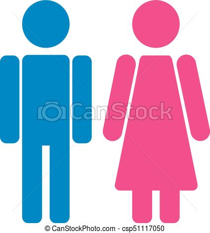 425x470 Gender Symbol Set. Male Female Girl Boy Woman Man Vector Icon