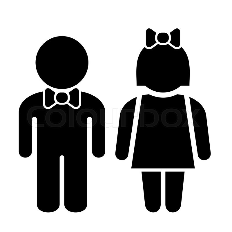 800x800 Man And Woman Icons, Toilet Sign, Restroom Icon, Vector Pictogram