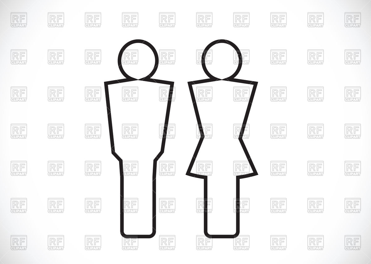 1200x853 Pictogram Man And Woman Toilet Icons Vector Image Vector Artwork