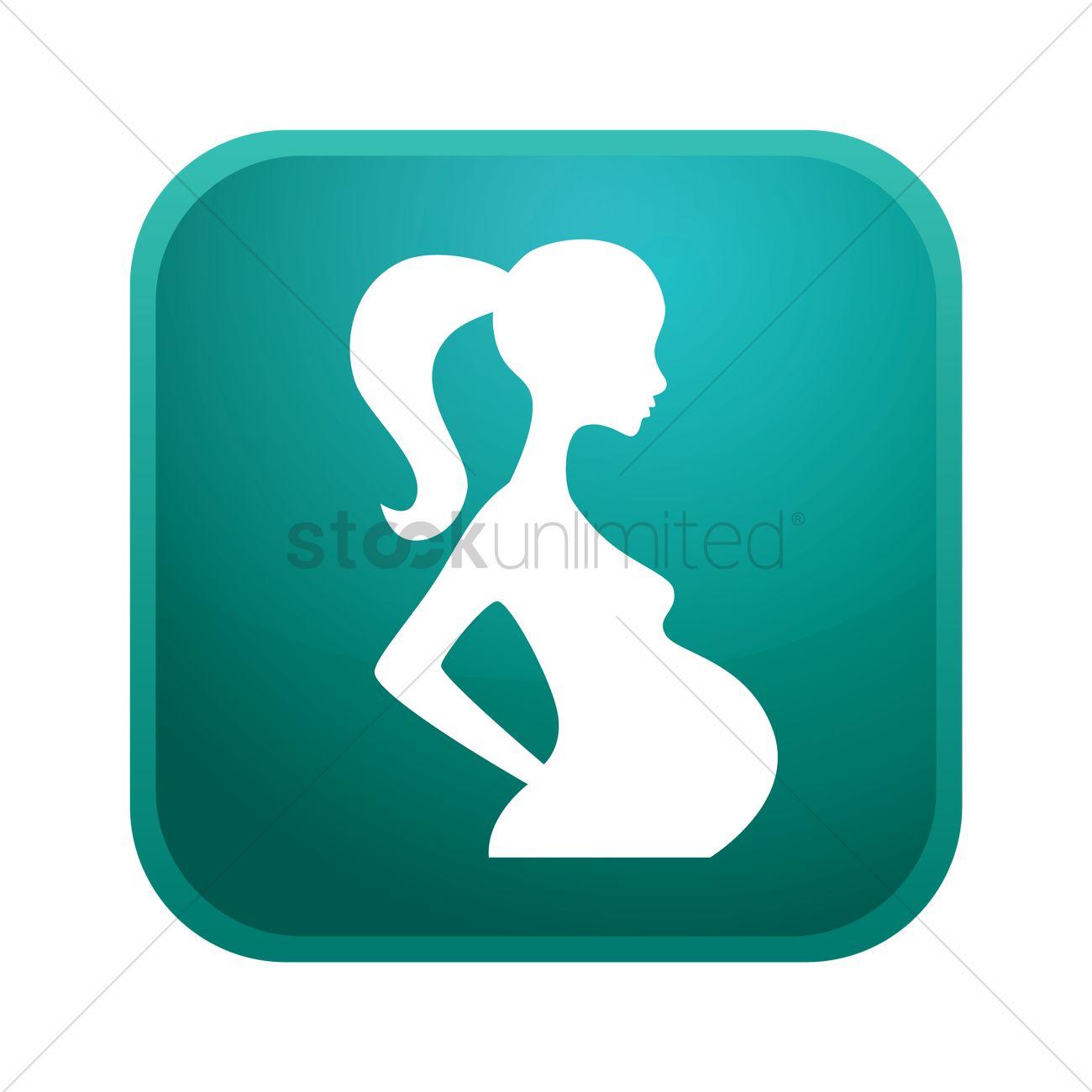 1300x1300 Pregnant Woman Icon Vector Image