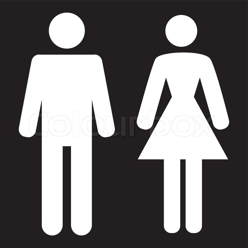 800x800 Vector Man And Woman Icon On A Black Background Vector