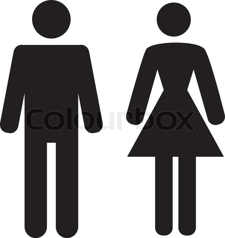 755x800 Vector Man And Woman Icon On White Background Stock Vector