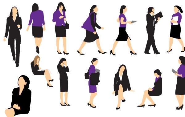 600x380 Business Woman Vectors Hd Icon