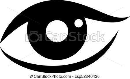 450x275 Woman Eye Vector Icon On White Background.