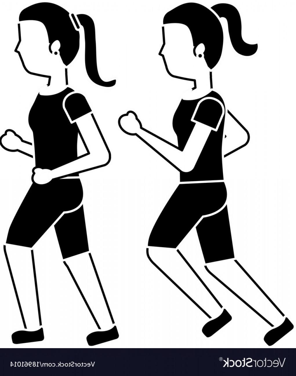 1021x1296 Women Friends Together Making Sport Running Vector Lazttweet