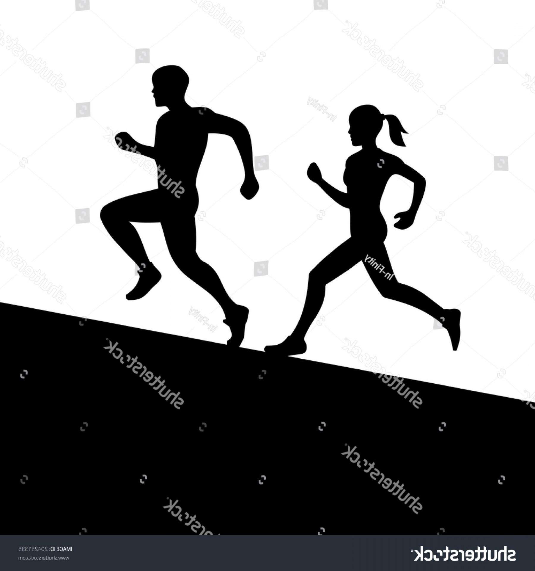1800x1920 Runners Men Women Running Silhouette Vector Shopatcloth