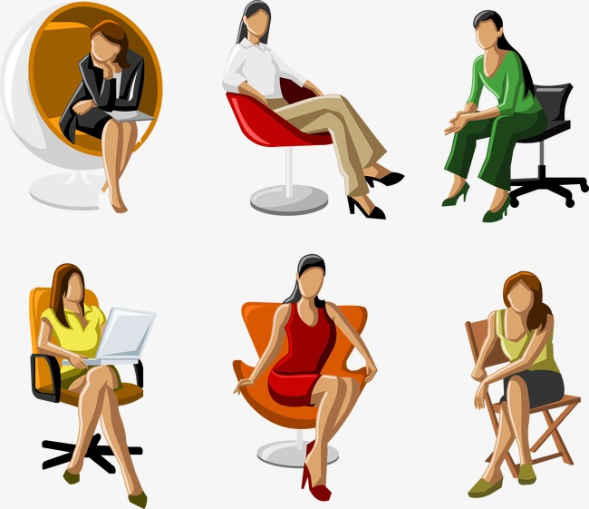 650x561 Vector Business Woman Sitting, Business Vector, Woman Vector