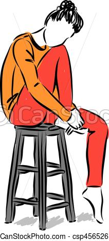 212x470 Woman Modeling Sitting Vector Illustration.eps. Woman Modeling